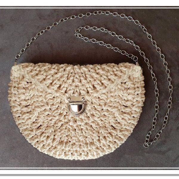 Kit Sac Demi Lune Naty Trés Facile Tuto Mamie Crochet